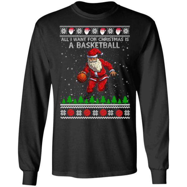 All I Want For Christmas Is A Basketball Santa Ugly Christmas