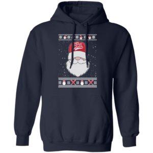 Baseball Team Santa Ugly Christmas hoodie