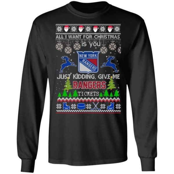 All I Want For Christmas Is You New York Rangers Ugly Christmas