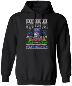 All I Want For Christmas Is You New York Rangers Ugly Christmas hoodie