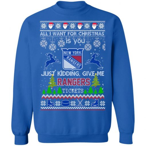 All I Want For Christmas Is You New York Rangers Ugly Christmas Sweater