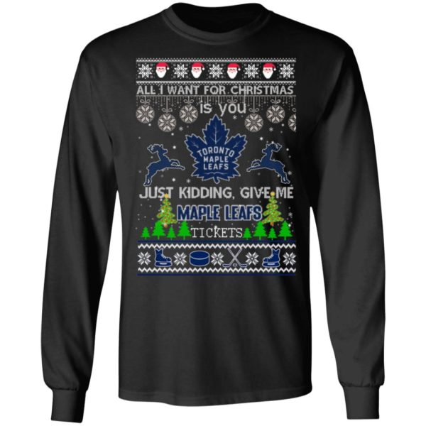 All I Want For Christmas Is You Toronto Maple Leafs Ugly Christmas