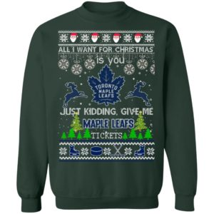 All I Want For Christmas Is You Toronto Maple Leafs Ugly Christmas Sweater