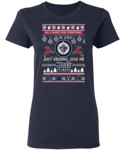 All I Want For Christmas Is You Winnipeg Jets Ugly Christmas