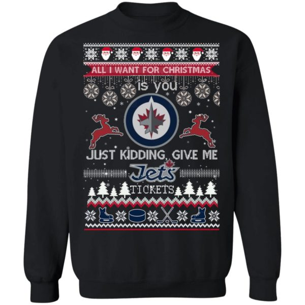 All I Want For Christmas Is You Winnipeg Jets Ugly Christmas Sweater