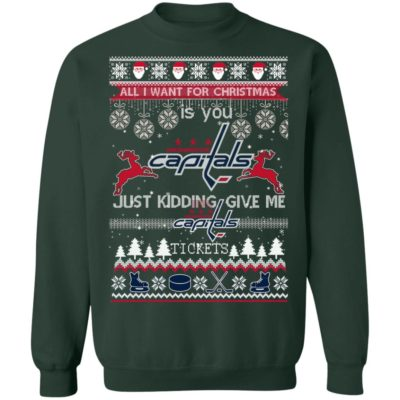 All I Want For Christmas Is You Washington Capitals Ugly Christmas Sweater