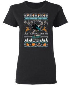 All I Want For Christmas Is You San Jose Sharks Ugly Christmas shirt