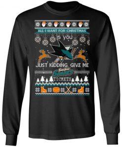 All I Want For Christmas Is You San Jose Sharks Ugly Christmas