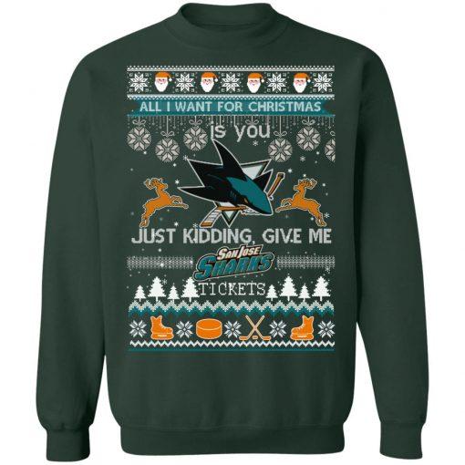 All I Want For Christmas Is You San Jose Sharks Ugly Christmas Sweater
