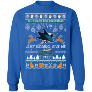 All I Want For Christmas Is You San Jose Sharks Ugly Christmas Sweater