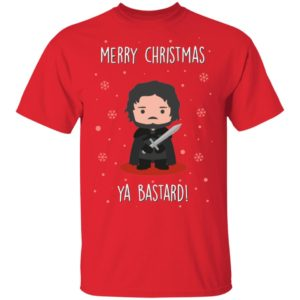 Game of Thrones GOT Jon Snow Merry Christmas Ya Bastard shirt