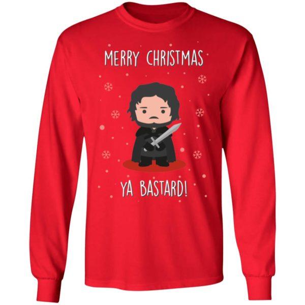 Game of Thrones GOT Jon Snow Merry Christmas Ya Bastard