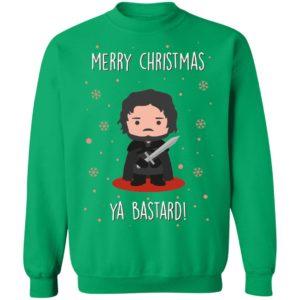 Game of Thrones GOT Jon Snow Merry Christmas Ya Bastard Sweatshirt