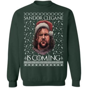 THE HOUND Game of Thrones Sandor Clegane Is Coming Christmas Funny Ugly Sweater