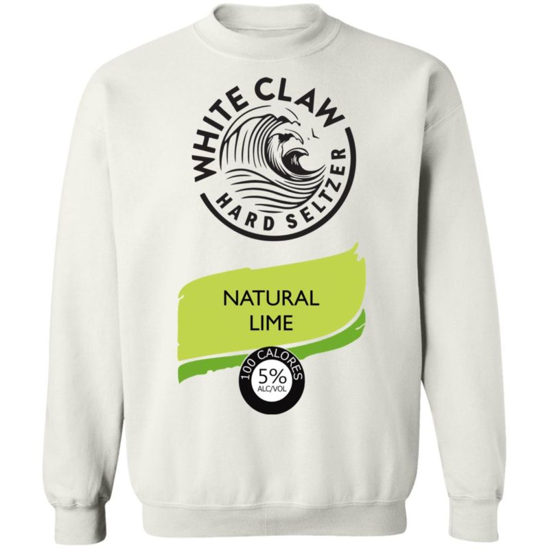 White claw Hard seltzer Natural Lime Halloween Costume sweatshirt