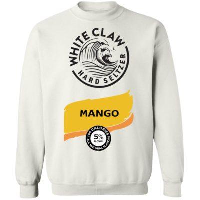 White claw Hard seltzer Mango Halloween Costume sweatshirt