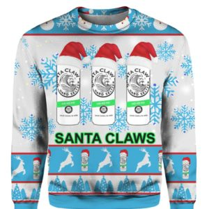 Santa Claws White Claw 3D Print Ugly Christmas sweater