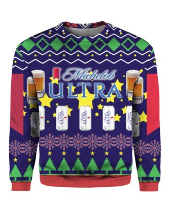 Michelob Ultra Beer Can 3D Print Ugly Christmas Sweater
