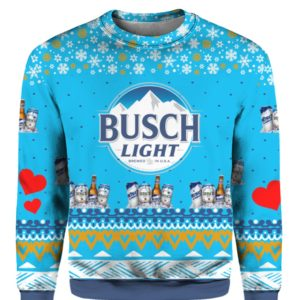 Busch Light Beer 3D Print Ugly Christmas sweater
