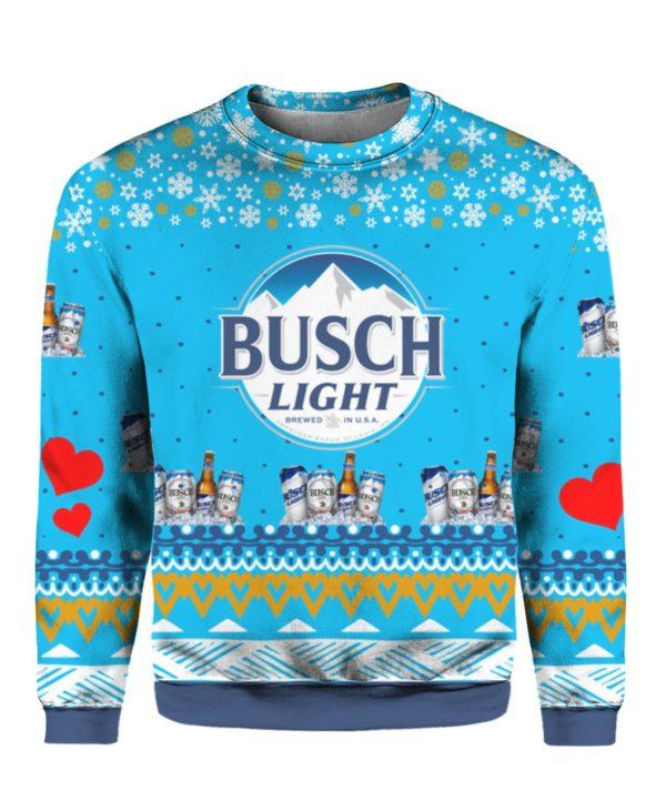 Busch Light Beer 3D Print Ugly Christmas Sweater Hoodie Shirt
