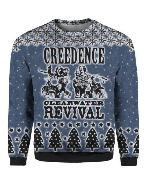 Creedence Clearwater Revival Rockband 3D Print Ugly Christmas Sweatshirt