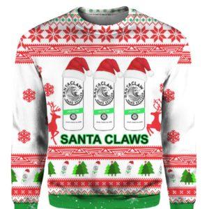 Santa Claws White Claw 3D Print Ugly Christmas Sweatshirt