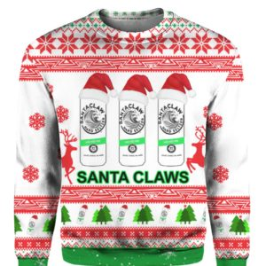 Santa Claws White Claw 3D Print Ugly Christmas Sweatshirt