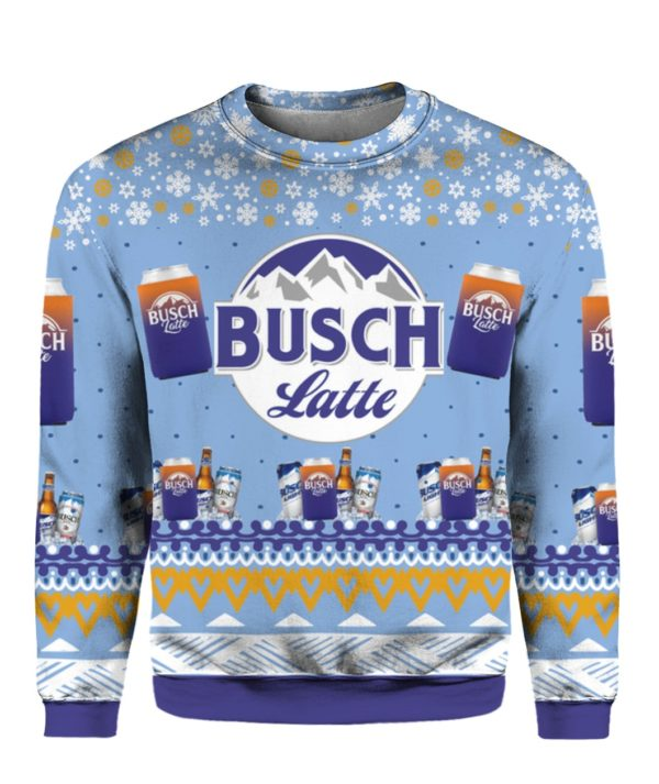 Busch Latte Beer 3D Print Ugly Christmas sweater