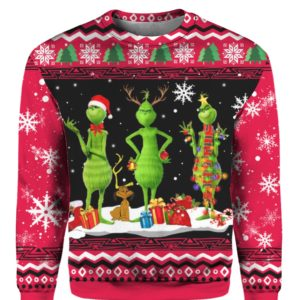 Tree Grinch 3D Print Ugly Christmas sweater