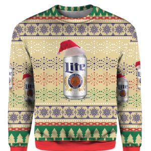 Miller Lite Beer Can 3D Print Ugly Christmas sweater