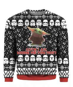 Baby Yoda 3D Print Ugly Christmas Sweater