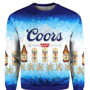 Coors Banquet Lager Beer 3D Print Ugly Christmas Sweater