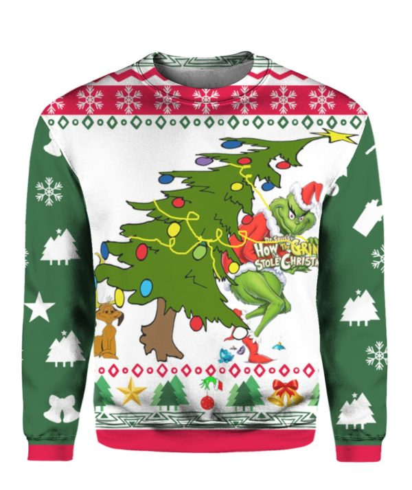 Grinch Stole Christmas 3D Print Ugly sweater