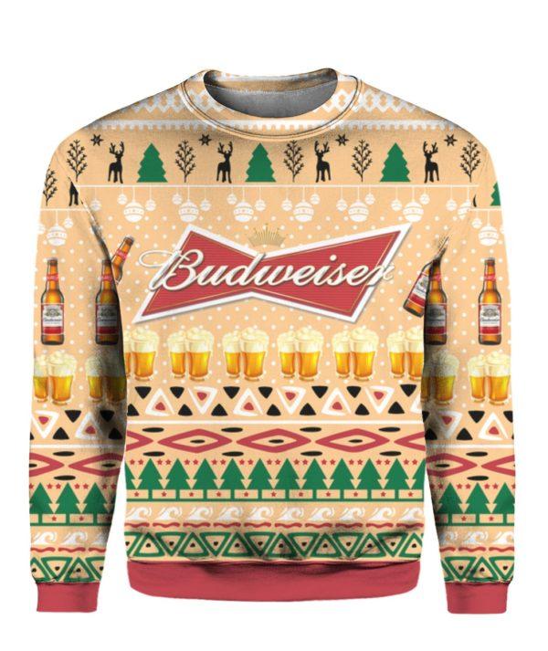 Budweiser Beer Bottle Funny Ugly Christmas Sweater Hoodie