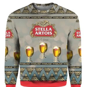 Stella Artois Beer 3D Print Ugly Christmas sweater