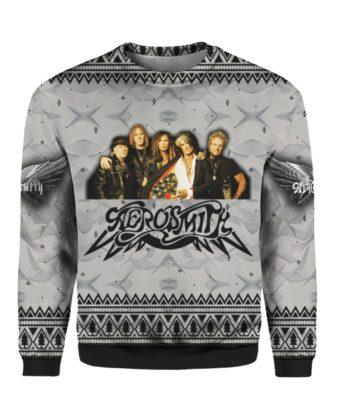 Aerosmith Band 3D Print Christmas Ugly Sweatshirt