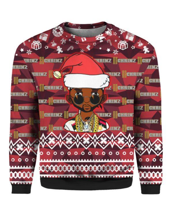 2 Chainz Santa 3D Print Ugly Christmas Sweatshirt