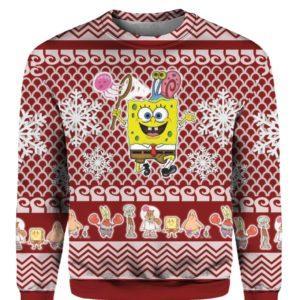 Spongebob Squarepants 3D Print Ugly Christmas Sweater