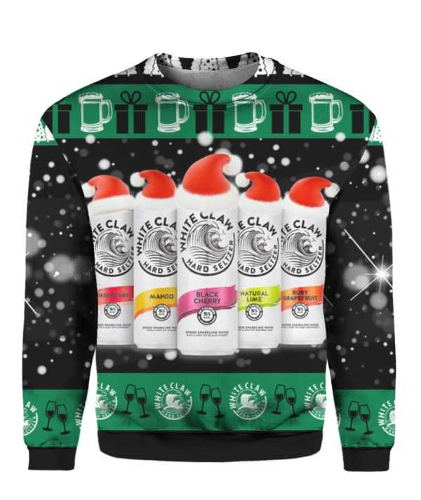 White Claw Santa Claws 3D Ugly Christmas Sweater
