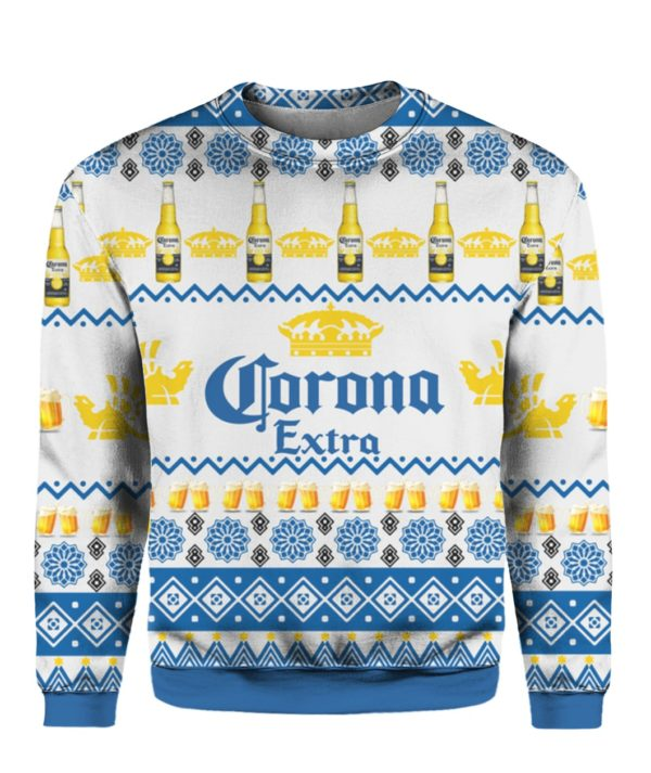 Corona Extra Beer Bottles 3D Print Ugly Christmas Sweater