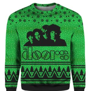 The Doors Band 3D Print Ugly Christmas Sweatshirt