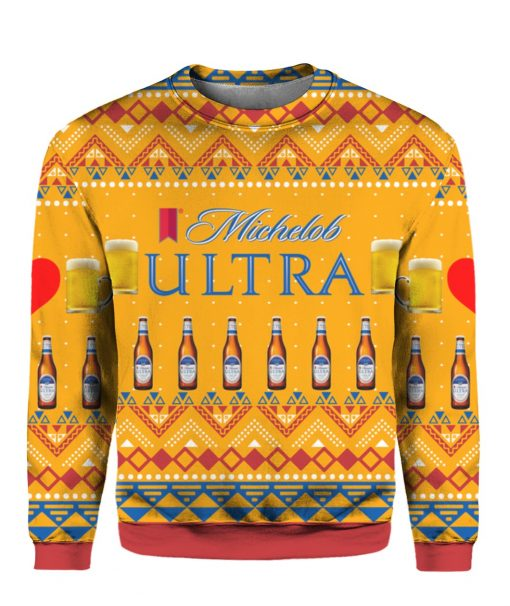 Michelob Ultra Beer Bottles 3D Print Ugly Christmas Sweater