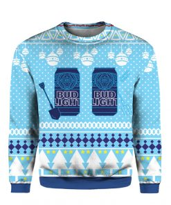 Bud Light Can Beer 3D Print Ugly Christmas sweater