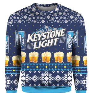 Keystone Light Beer 3D Print Ugly Christmas sweater