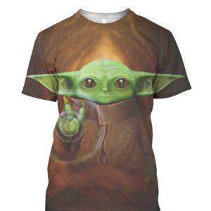 Baby Yoda 3D Print tee shirt