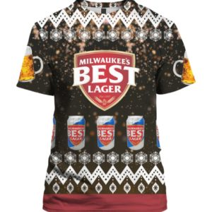 Milwaukees Best Lager Beer 3D Print Ugly Christmas shirt