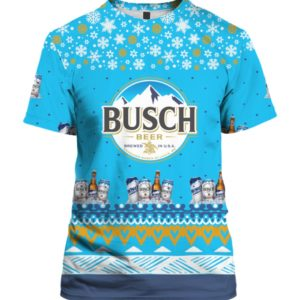Busch Beer 3D Print Ugly Christmas Shirt