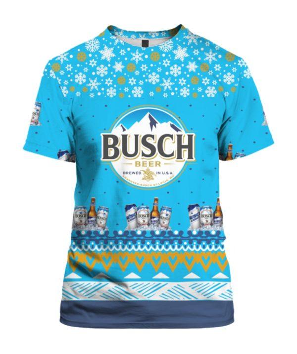 Busch Beer 3D Print Ugly Christmas Shirt
