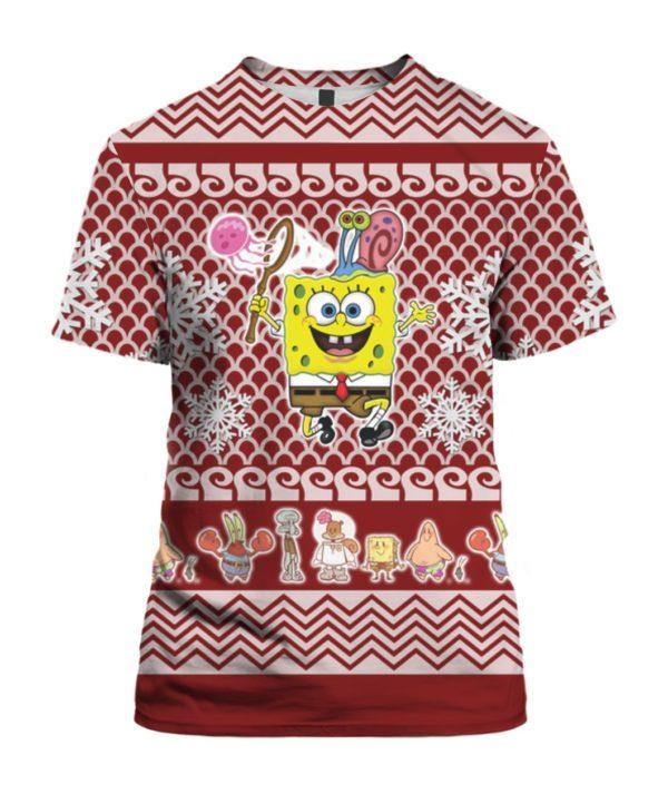 Spongebob Squarepants 3D Print Ugly Christmas shirt