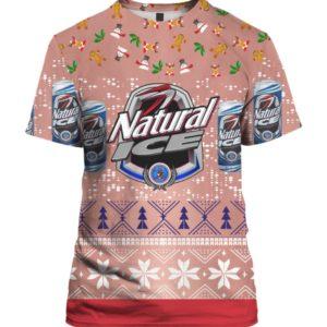Natural Ice Beer 3D Print Ugly Christmas shirt